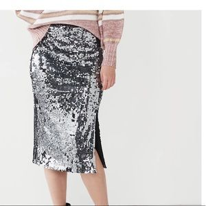 Nine West sequin pencil skirt size Xs NWT